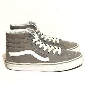 Vans Gray Canvas Old Skool Hi Sneakers